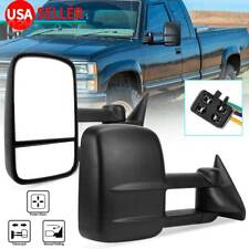 Pair Power Tow Mirrors for 92-99 Chevy Suburban 88-98 Chevy Gmc C/K 1500 2500
