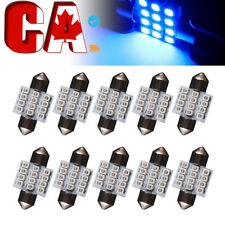 10X Festoon 31mm Ultra Blue 12SMD LED Dome Light lamp Car Bulbs 3021 3022 DE3175
