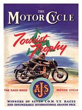 A.J.S Motor Cycle, Retro metal Sign/Plaque Wall vintage / Garage Gift