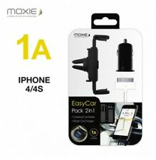 KIT 3en1 CHARGEUR USB 1A + SUPPORT VOITURE + CABLE ★  IPHONE 3GS 4 4S ★ MOXIE