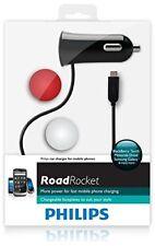 Philips 12V Car Charger For Mobile Phones Black Road Rocket DLP2204/17