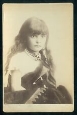Vintage Native American CDV of a sweet Little Indian Girl probably Pueblo 1880's