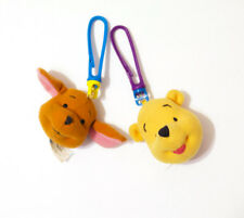 Disney's Winnie the Pooh Plush Keychain Backpack Clip Collectible - Lot of 2