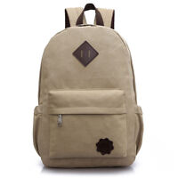 Men Canvas Backpack Rucksack Laptop Travel Hiking School Messenger Shoulder Bag