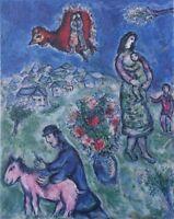 Chagall Marc (Según ) : Sobre El Camino Del Pueblo - Litografía Firmada, 500ex