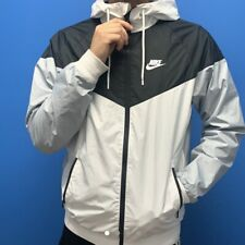 Rare Nike Windbreaker Windrunner Jacket Nylon Glanz Black White Gray Small
