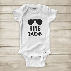 Ring Dude Bearer Proposal Gift Wedding Rehearsal Party Baby Infant Bodysuit