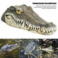 Schwimmende Gartenteich Wasserspiel Krokodil / Alligator Ornament Kopf kün Nett