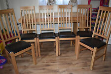 TOP QUALITY HEAVY SOLID OAK DINNING TABLE & 6 CHAIRS COLLECTION SOLIHULL B91