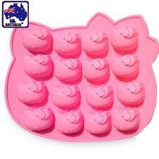 16 Hello Kitty Silicone Chocolate Cake Mold Mould Baking Biscuit DIY HKIMO6160
