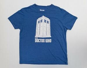 Men's Doctor Who 2009 BBC Royal Blue Short Sleeve Collectors T-Shirt Size XL