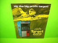 Bally 1970 TARGET ZERO Original Vintage Arcade Game Flyer Jet Bomber Fighter