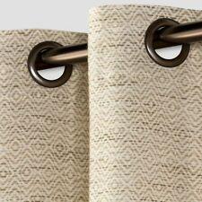 Diamond Weave Window Curtain Panel 84 x 54 Grommet Top Tan Threshold Spacedye