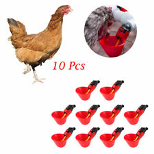 10PCS Auto Bird Coop Feed Feeder Poultry Water Cups Chicken Fowl Drinker Waterer