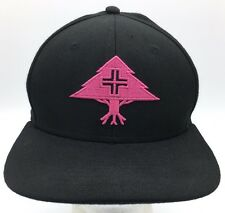 LRG Lifted Research Group Flourescent Pink Tree Icon Black Snapback Hat