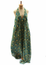 Liberty of London For Target  Peacock Feather Halter Sundress High Lo Hem Sz 10