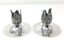 Vintage Mid-Century Art Nouveau Durham Sterling Silver Candle Holders