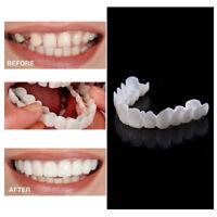 1Pair Snap On Bottom Upper & Lower Fake Teeth Dental Dentures Veneers For Unisex
