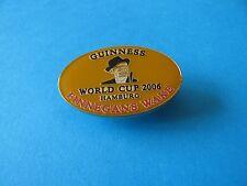 Guinness Finnegans Wake, World Cup 2006 Football Pin Badge. Orange.