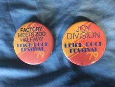 Joy Division Leigh Rock Festival 79 pair of original badges