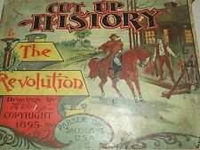 """Antique 1895 Parker Bros. Salem """"Cut Up History The Revolution"""" Game with Box"""