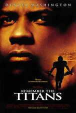 REMEMBER THE TITANS Movie POSTER 27x40 Denzel Washington Will Patton