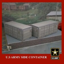 U.S Army Shipping Container Card Kits 20ft x 4 HO 1:87 Gauge Rail Freight