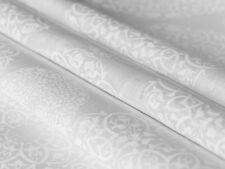 0,5 M, Weiß Auf Weiß Mandala Patrón Ligera Lino Tela , Cortinas Tela, 100gr