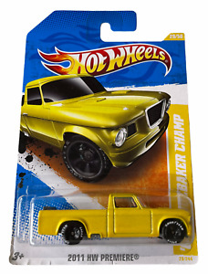 Hot Wheels '63 Studebaker Champ - Yellow 2011 New Combined Postage Available
