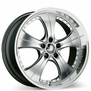 19x8.5 ACE C053 TREND HYPER SILVER w MACHINED LIPS WHEELS QTY4 (B1)