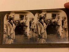 WWI ERA KEYSTONE STEREOVIEW PIC 9367 GUNNERS ON BOARD U.S BATTLESHIP New York
