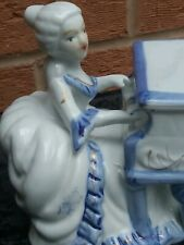Antique Figurine Lady Playing Piano, Pre 1900c