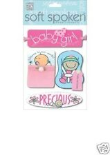 Soft Spoken 3-D Stickers BABY GIRL - PRECIOUS - TAKE ME HOME - WELCOME