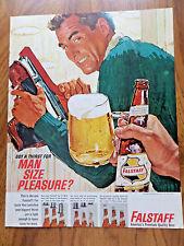 1964 Falstaff Beer Ad Ice Skating Theme