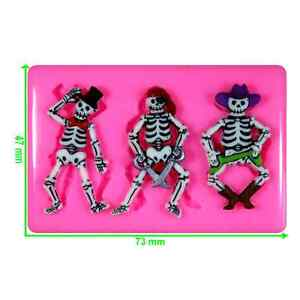 Fancy Dress Skeletons Cowboy Pirate Tophat Silicone Mould by Fairie Blessings