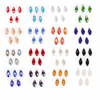 10pcs 10x20mm Charms Teardrop Faceted Pendant Glass Crystal Loose Beads Jewelry
