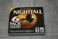 Legends of the Nightfall  A Hidden Object 6 Pack PC Game Software New Sealed