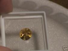 Citrine - 3.5 carat Round w/Star Cut