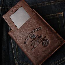 New Mens Leather CreditCard Vintage Wallet PLUS Mini ID Wallet BLUE MOUNT J342