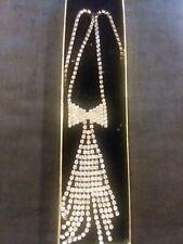 Fashion Jewelry Rhinestone Tie Necklace