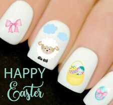 Easter Lamb Basket Bow Bunny Nails Nail Art Decals Water Transfers Stickers V24