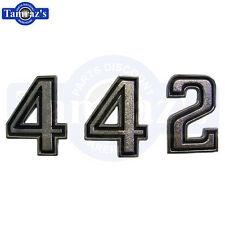 1969-1970 & 1973 Cutlass 442 Header Panel Emblem Numbers New