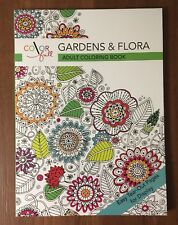 Color Full Gardens & Flora Adult Coloring Book 32 one sided pages Free Shipping!