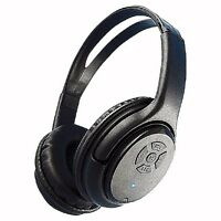 Noise Isolation Wireless Bluetooth Headphone Mic-Headsets/Black