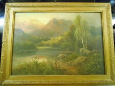 Frank Hinder 1861-1933 The Mountain Lake, one of two Hinders I'm selling