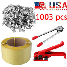 Heavy Duty Pallet Strapping Banding Kit Tensioner Tool Sealer Coil fr