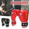Tech MMA UFC Grappling Gloves Leather Fight Boxing Punch Bag Training Kick 1/2