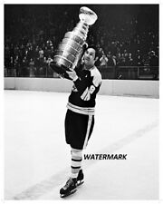 1972 Boston Bruins Johnny Bucyk with Stanley Cup 8 X 10 Photo Free Shipping
