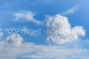 Clouds and blue sky digital photo image for personal uses only