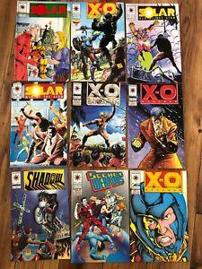 Lot 9 Valiant  Comic Mixed Collection, XO, Shadow, Solar, Secret Weapon...